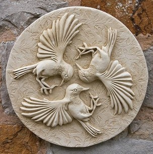 Three birds wall plaque