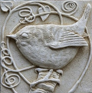 Wren wall plaque